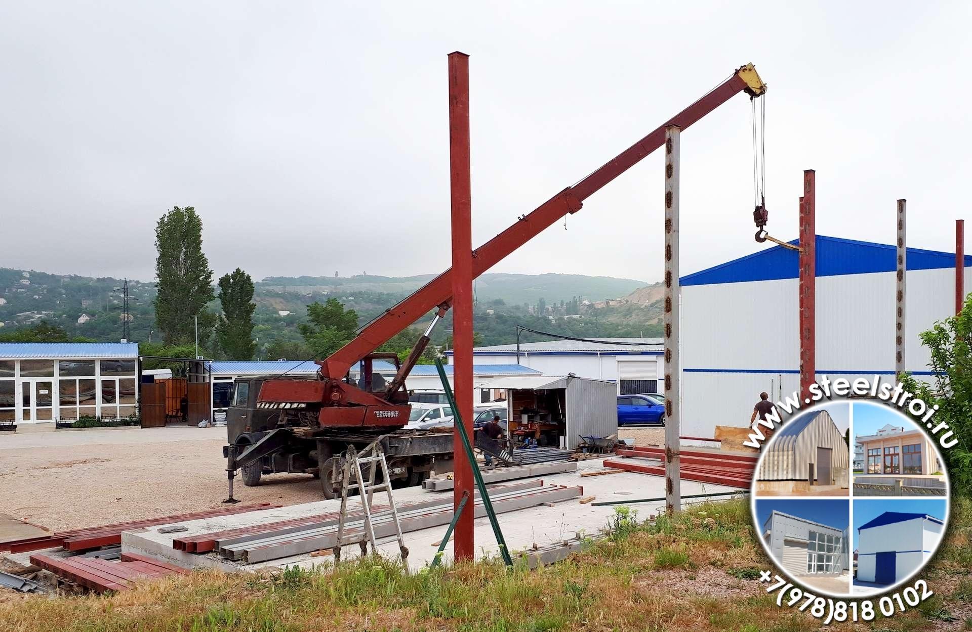 Строительство ангаров и складов из металлоконструкций цены