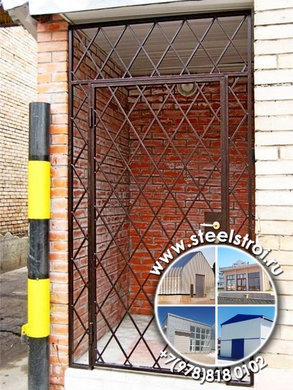 Установка двери решетки