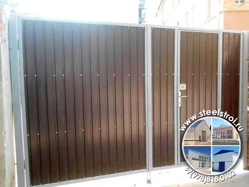 Изготовление металлических ворот цена