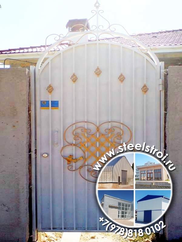 Металлические ворота для дачи