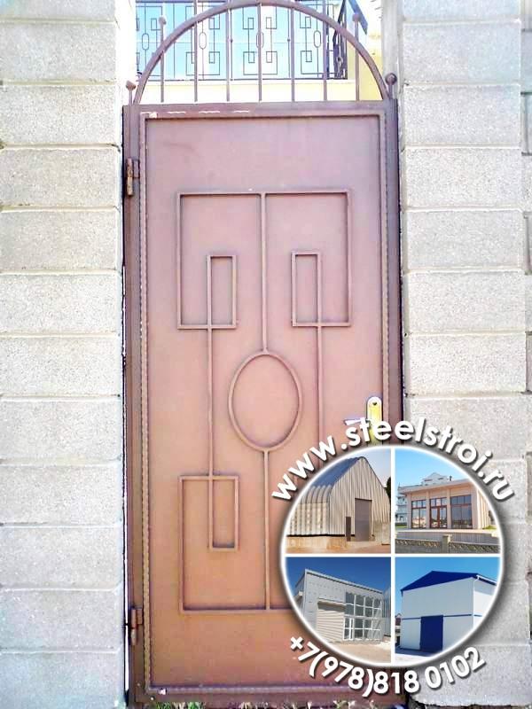 Металлические ворота конструкция