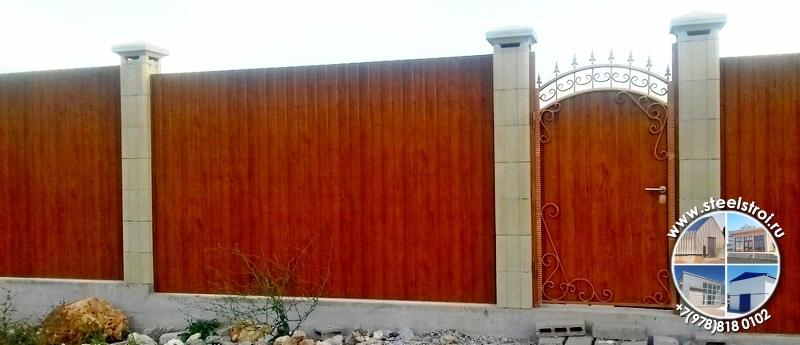 Металлические ворота с калиткой цена