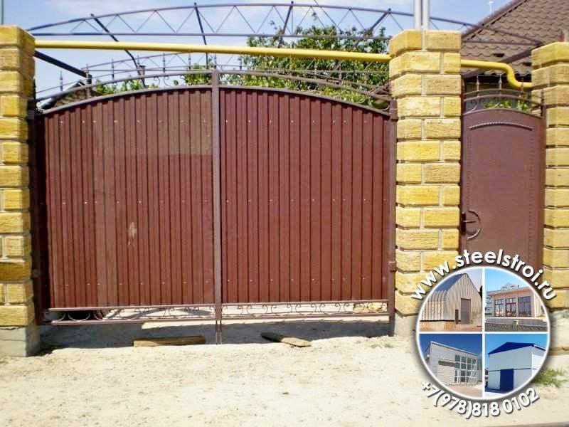 Металлические ворота заборы