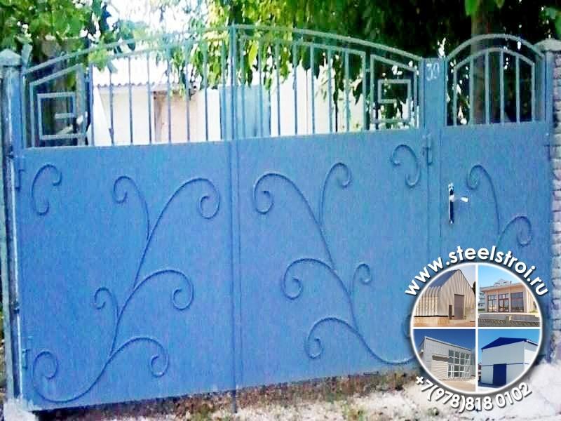 Ворота металлические автоматические