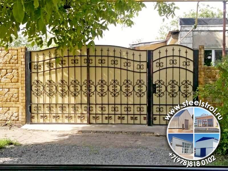 Ворота металлические гост