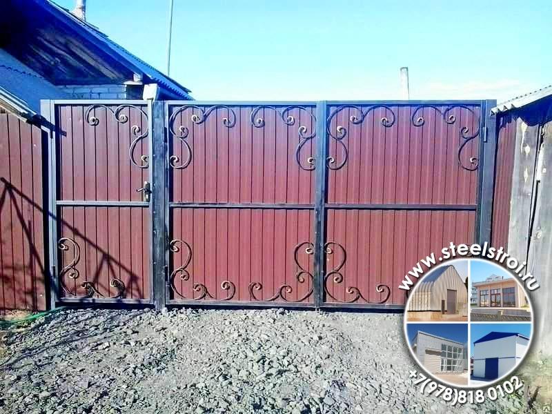 Ворота металлические утепленные цена