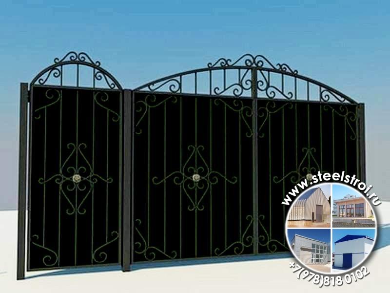 Ворота ограждения металлические